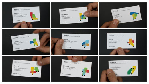 mitbusinesscards MIT Media Labs new logo has 40,000 variations