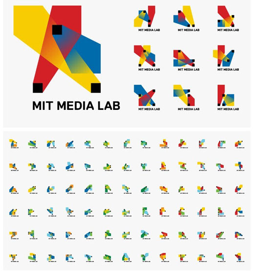 mitmedialab MIT Media Labs new logo has 40,000 variations