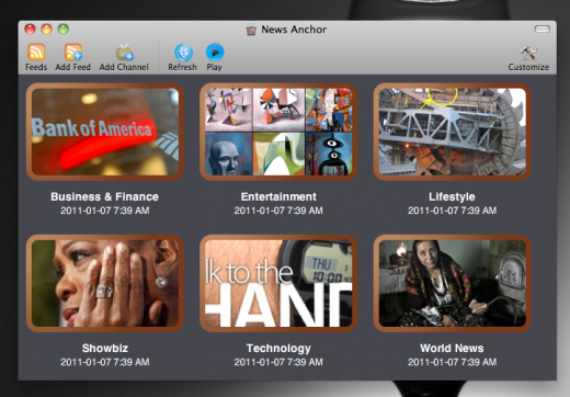 newsanchor 520x362 News Anchor: A Mac app turns RSS feeds into watchable episodes