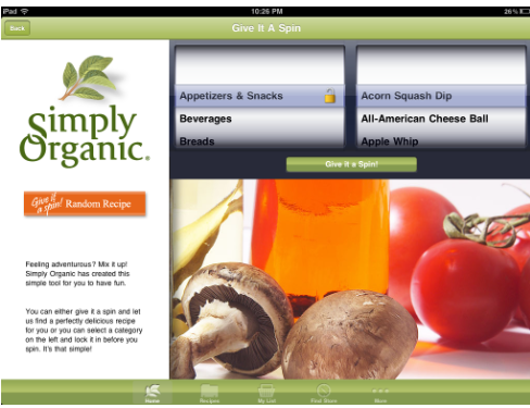 organic1 Simply Organic HD: A beautiful iPad app for organic foodies
