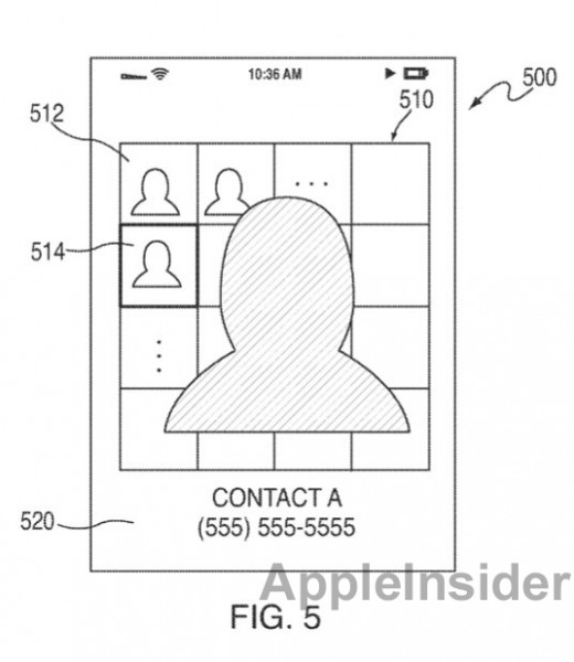 patent 110324 1 520x600 Will Apple revamp iOS music navigation and contact list?