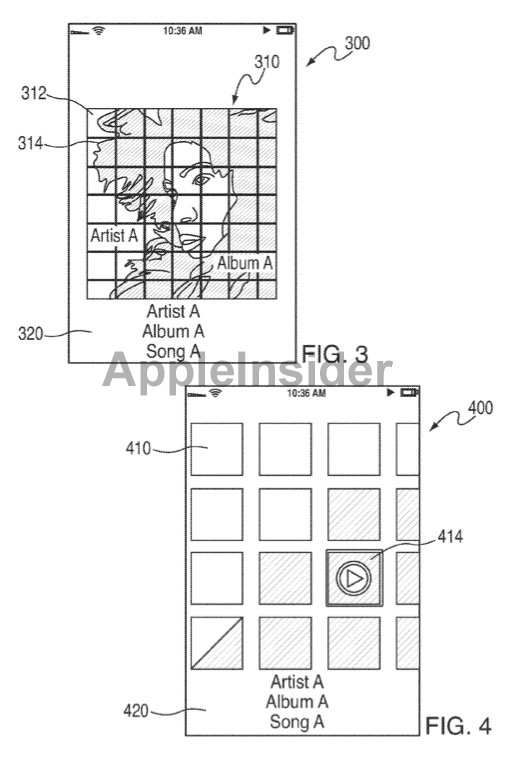 patent 110324 2 Will Apple revamp iOS music navigation and contact list?