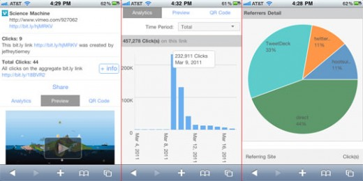 preview and analytics 540w 520x260 Bit.ly launches impressively app like HTML5 mobile site
