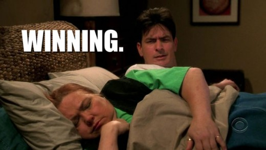 sheen winning bed 520x293 Why Charlie Sheen is WINNING on Twitter