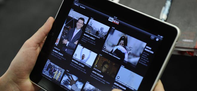 Sky News launches iPad app, and a huge investment in tablet-based TV news