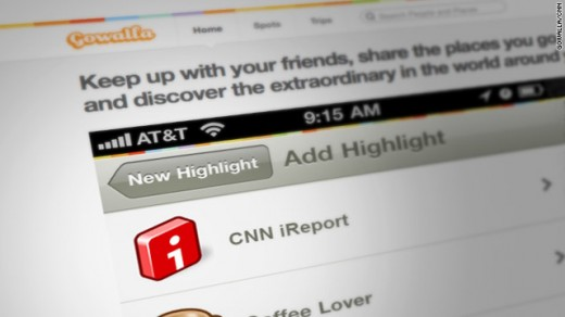 t1larg.gowalla.ireport 520x292 CNN iReport taps Gowalla for its user generated news community