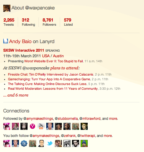 twitter sxsw Lanyrd launches plugin to make Twitter even more useful at conferences