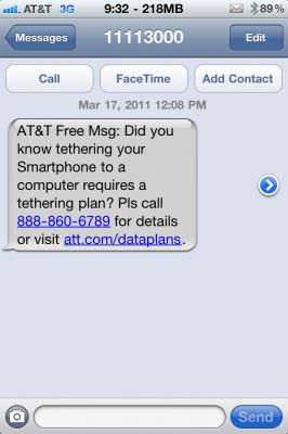 AT&T begins crackdown on jailbroken iPhone tethering
