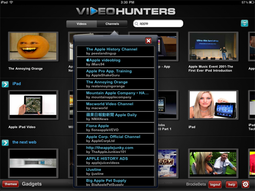 videohunters2 VideoHunters: Customized YouTube themes for iPad