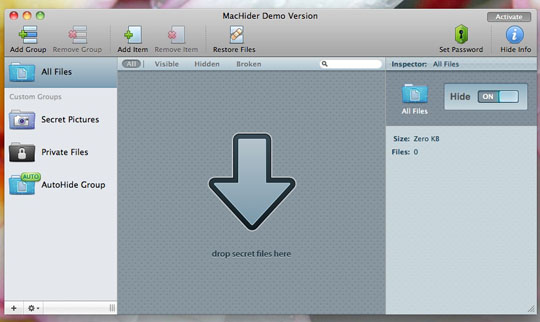Adding Files Keep Your Important Files Secret with MacHider