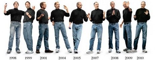 Apple CEO Steve Jobs Keynote Fashion Evolution 520x203 Stylish Technology Entrepreneurs: Steve Jobs