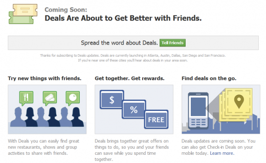 Find Deals on Facebook 520x319 Facebook Deals is launching tonight in five cities