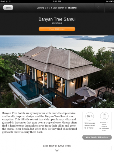 Jetsetter iPad Product Details Page.Banyan Tree Samui 375x500 Jetsetter CEO gives us an exclusive tour of their first iPad app