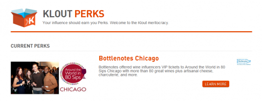Klout Perks 520x201 A sneak peek at the new Klout redesign