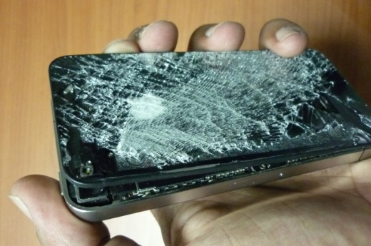P1080295 My phone after an army officer deliberately destroyed it 520x345 Egypt Rebuilds as the Revolution Continues [Interview]