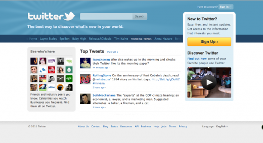 Picture 385 520x283 Twitter unveils a new homepage, with a focus on interests