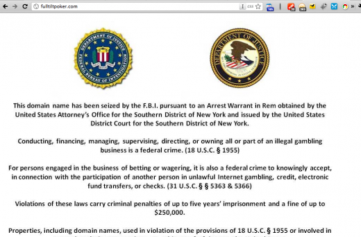 Picture 385 520x342 FBI seizes online poker websites; customer funds on lockdown.