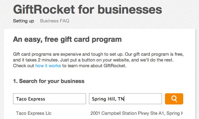 Giftrocket free gift card program works anywhere tnw apps for Gift card program for small business