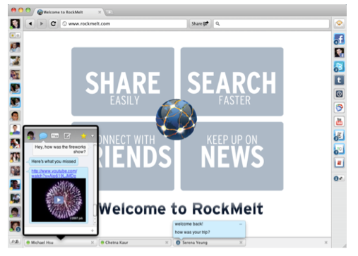 Screen shot 2011 04 01 at 8.49.23 AM  Social browser RockMelt keeps getting better, with revamped Twitter and IM support
