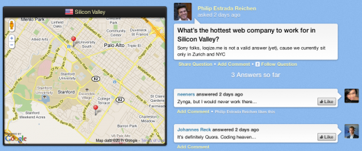 Screen shot 2011 04 06 at 14.53.09 520x218 Loqize.me is Quora for places [Invites]