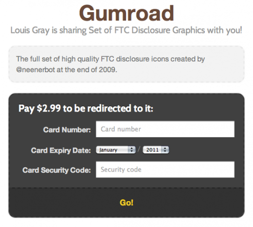 Screen shot 2011 04 09 at 8.11.33 AM 520x468 Gumroad: Sell digital goods with a link, no storefront needed