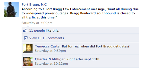 Screen shot 2011 04 18 at 1.58.24 PM US Army base turns to Facebook for post tornado information