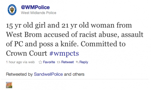 Screen shot 2011 04 19 at 12.24.25 520x309 UK Police To Publish Court Rulings On Twitter
