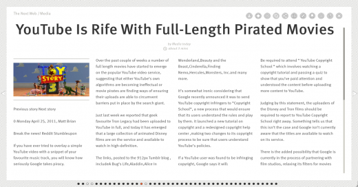 Screen shot 2011 04 25 at 13.48.35 520x272 PressJack turns RSS feeds into Flipboard style magazines in the browser