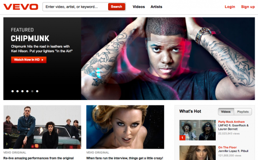 Screen shot 2011 04 26 at 10.26.53 520x323 Music video site Vevo is now live in the UK