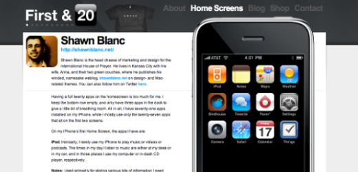 Shawn Blanc screen Theres No Place Like Home Screen: Exploring the Philosophy of App Placement
