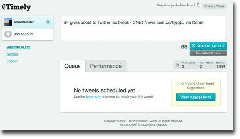 Timely interface 4 easy tools to keep up your 24 hour Twitter feed