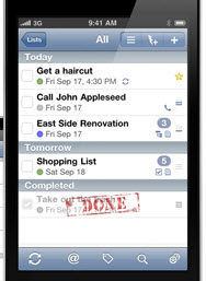 ToDo 15 iOS To Do Apps that Sync Over the Air