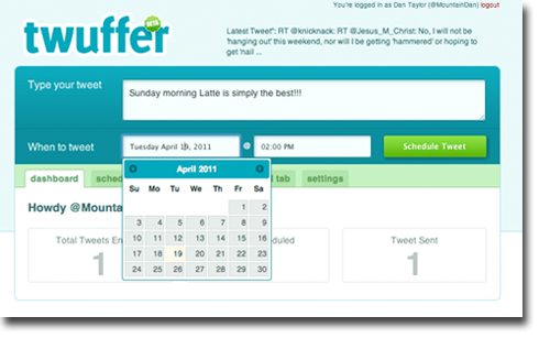 Twuffer Interface 4 easy tools to keep up your 24 hour Twitter feed