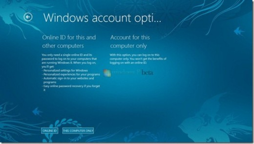 Windows 8 Online ID thumb 520x295 New information leaks on Windows 8 Roaming Profiles and lockscreen