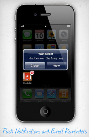 Wunderlist 15 iOS To Do Apps that Sync Over the Air