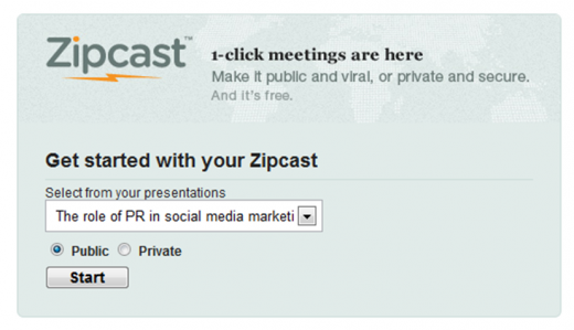 Zipcast 520x299 How to get the most out of SlideShare