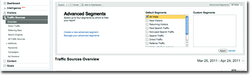 advanced segments How to track Social Media within Google Analytics