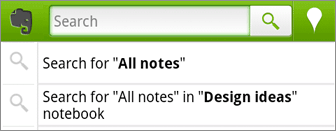 android notebooksearch Evernote announces huge update for Android