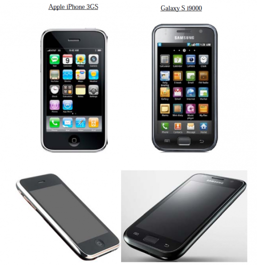 apple v. samsung 2 520x536 Apple sues Samsung for making phones that look like...phones.