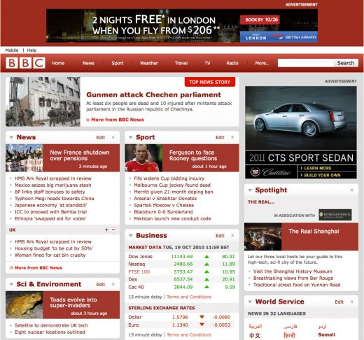 bbc old2 520x486 BBC pushes out brand new (less innovative) website to international readers