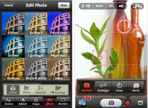 cameraplus 520x378 The Top 30 Best Photography Apps for iPhone