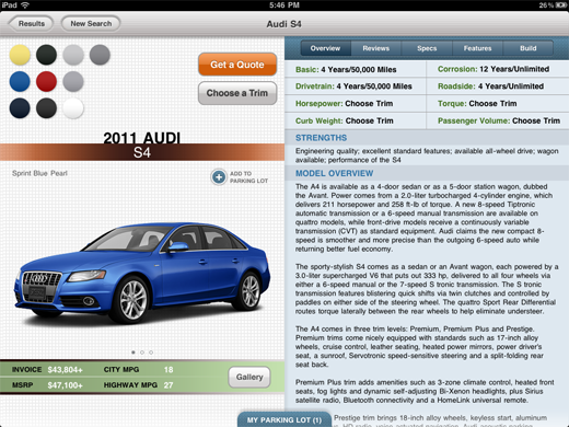 carzen2 CarZen: A gorgeous iPad app to shop for new wheels