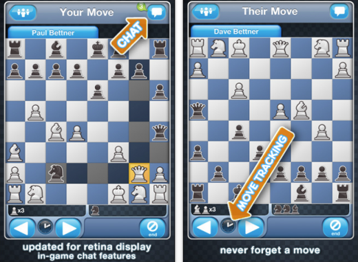 chess with friends 520x381 The 40 Best Multiplayer Games for iPhone and iPad