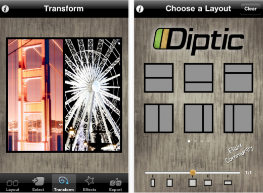diptic 520x382 The Top 30 Best Photography Apps for iPhone