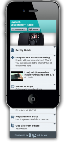 example squeezebox mobilepage 142x300 Tingiz brings offline products online with simple, useful mobile sites