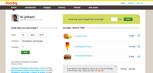 foodzy addfood Foodzy brings gamification and social networking to the dinner table [Invites]