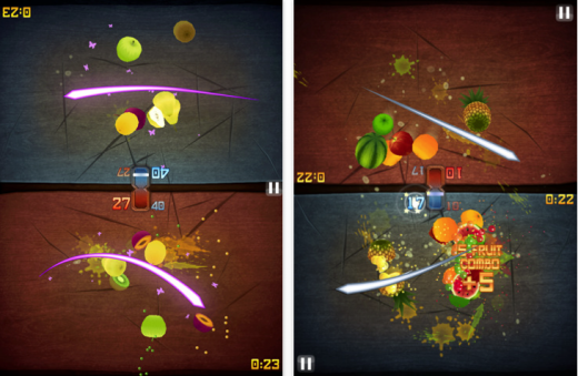 fruit ninja 520x339 The 40 Best Multiplayer Games for iPhone and iPad