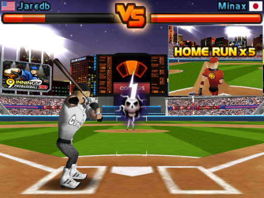 homerun battle 3d for ipad 1 520x390 The 40 Best Multiplayer Games for iPhone and iPad