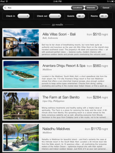 iPad Search Results Page 375x500 Jetsetter CEO gives us an exclusive tour of their first iPad app