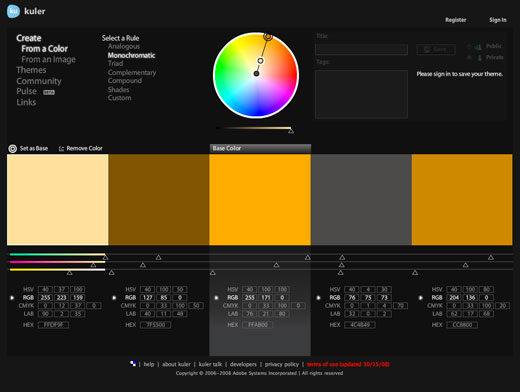 kuler 7 Tools for Managing Your Color Palettes